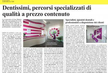 Pubblicazione Il Tirreno, 30.10.2018